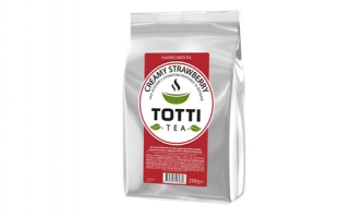 TOTTI Tea Creamy Strawberry, 250 г.